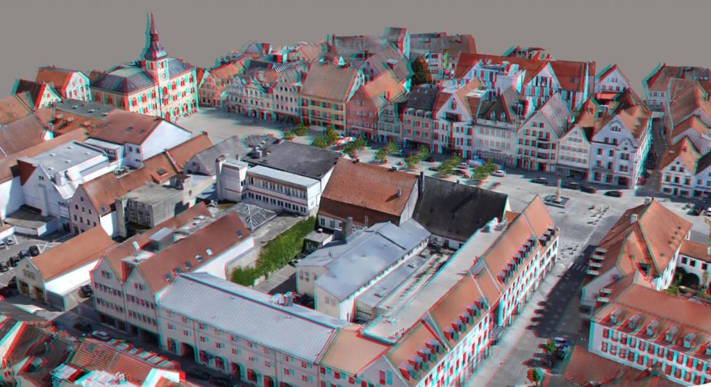 Ansicht Modell mit Textur in 3D (Rot/Grün-Brille)